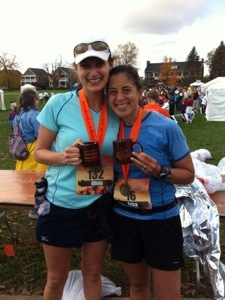 Olivia and me after our award winning and her PR marathon in September!