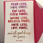 An awesome birthday card sentiment - perfect for the season and times!